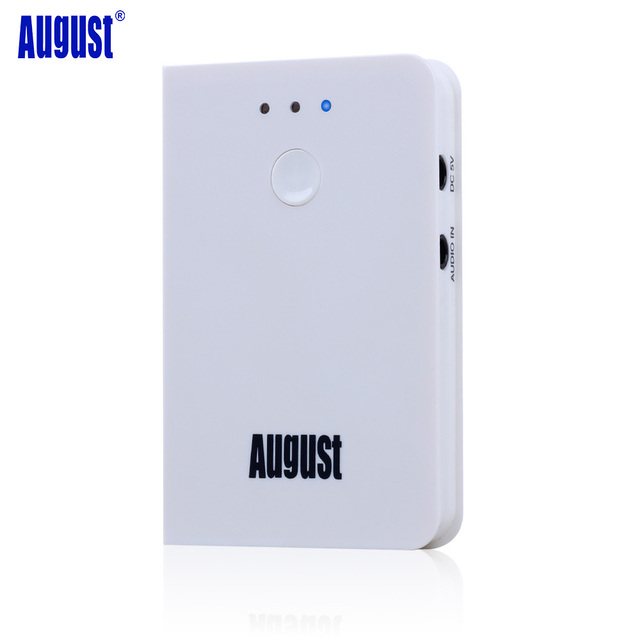 August MR250W aptx Bluetooth Transmitter Wireless Audio Sender for TV Stream Music from 3.5mm Audio Out to Bluetooth Headphones