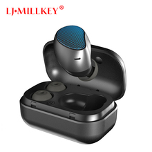Bluetooth 4.2 Earbuds Wireless Headphones Headsets Stereo In-Ear Earphones With Charging Box for ios and Android LJMILLKEY YZ230
