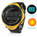 Unisex Digital Reloj Solar de Múltiples Funciones Powered Wateproof hombres relojes deportivos Relogio esportivo Masculino relojes Reloj