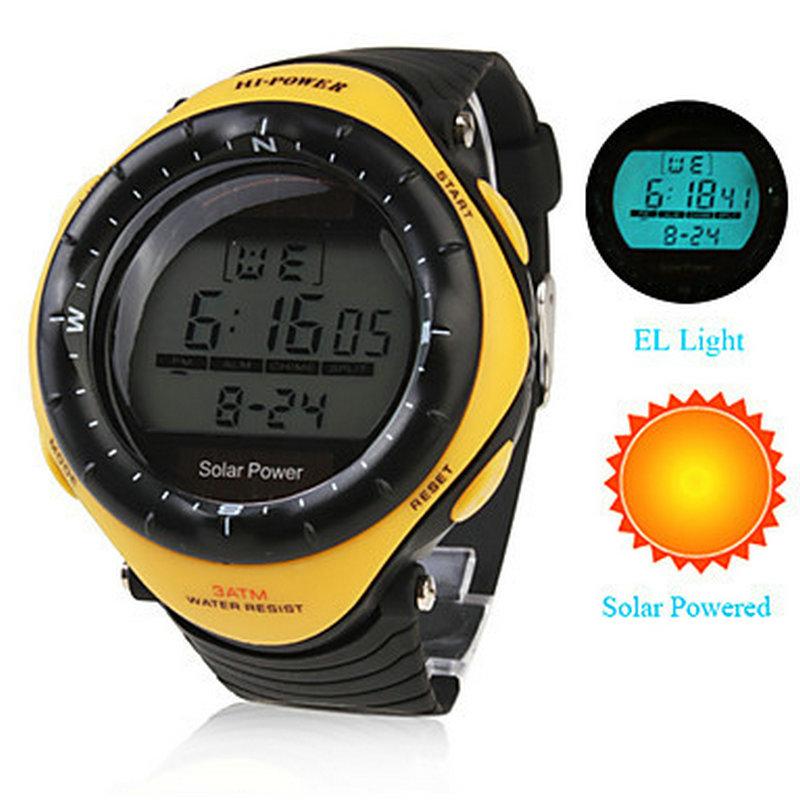 Prix pour Unisexe solaire multi-fonctionnel montre numérique Wateproof hommes sport montres Relogio esportivo hommes relojes horloge
