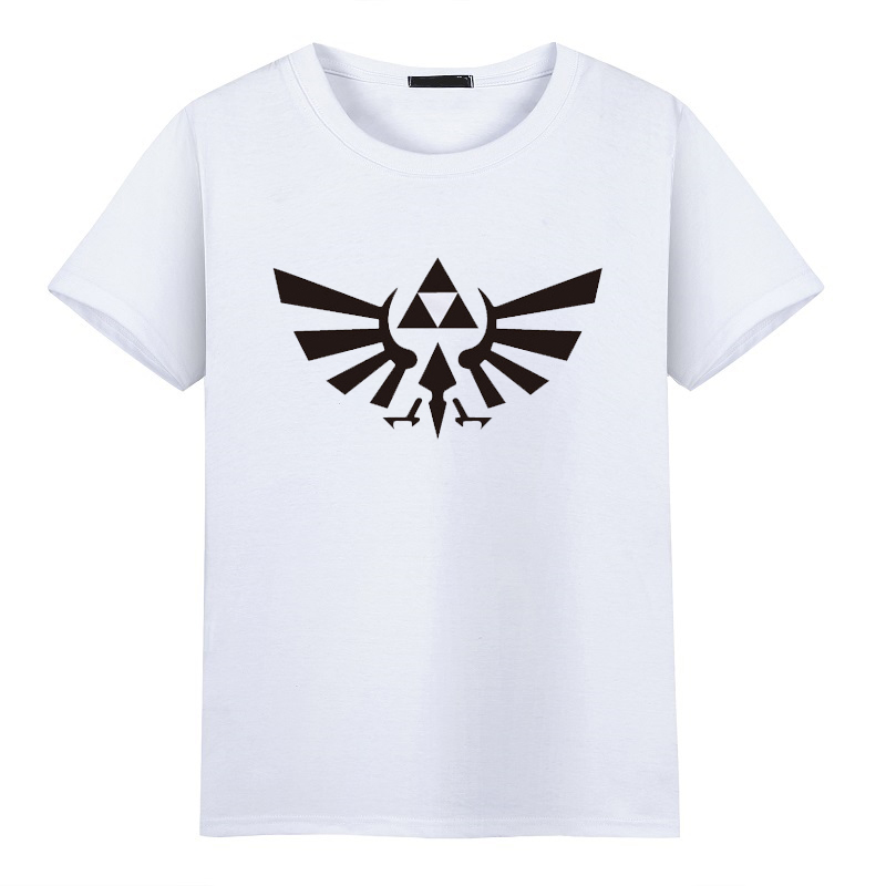 Men Fashion 2017 Tshirt The Legend of Zelda Triforce logo Game Printing Pattern Short Sleeve Hip Hop T-shirts Tee Shirts