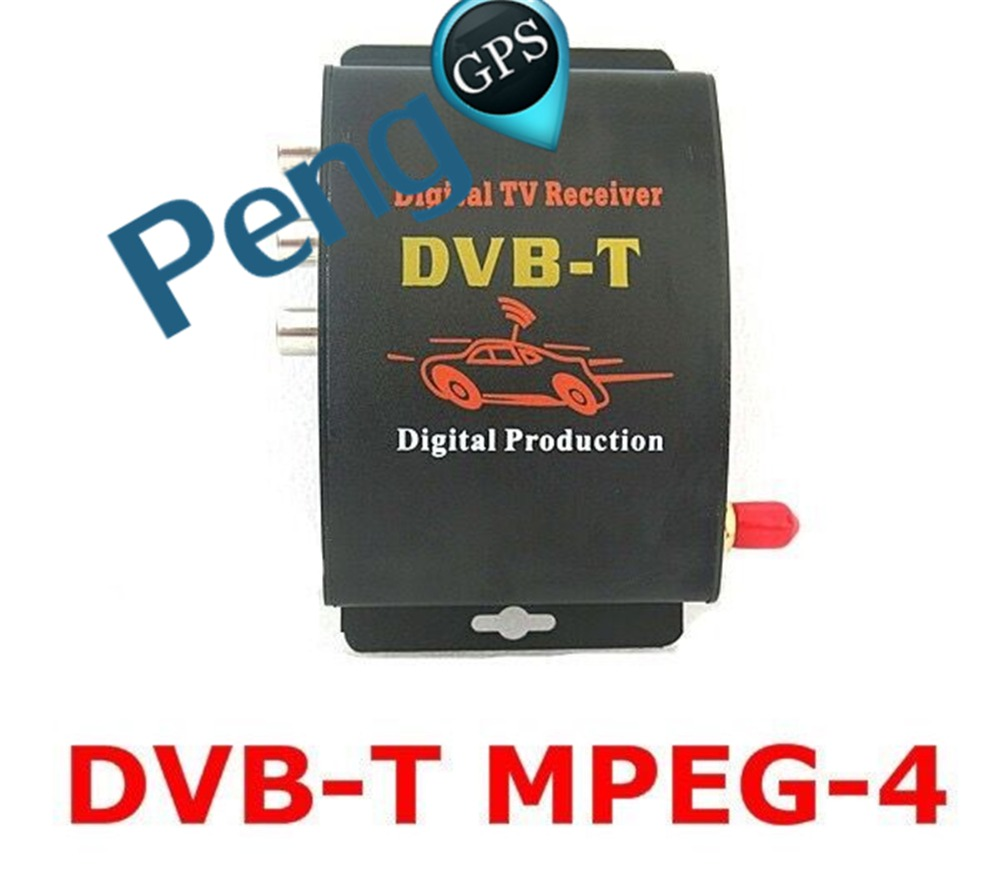 DVB T Car Digital TV HD MPEG 4 Tuner Receiver Two Antenna 140 200km h Two