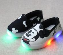 2017 beautiful illuminated casual baby sneakers new brand new breathable kids shoes cute little girl boy baby shoes