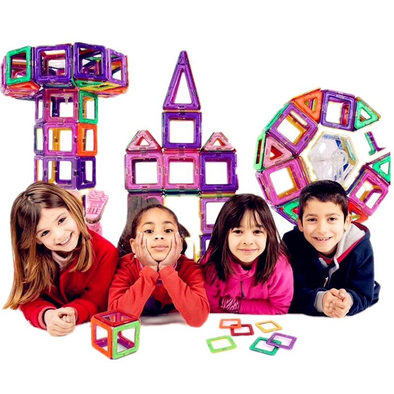 BD100 PCS Magnetic building block 3D Building Blocks Kids Toys Educational DIY 3D Magnetic Designer Educational Bricks