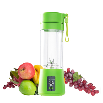 400ml Portable Juice Blender USB Juicer Cup Multi-function Fruit Mixer Six Blade Mixing Machine Smoothies Baby Food dropshipping 1
