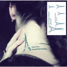 SHNAPIGN 25 Style Mini Temporary Tattoo Body Art, Eiffel Tower Designs, Flash Tattoo Sticker Keep 3-5 days Waterproof 10.5*6cm