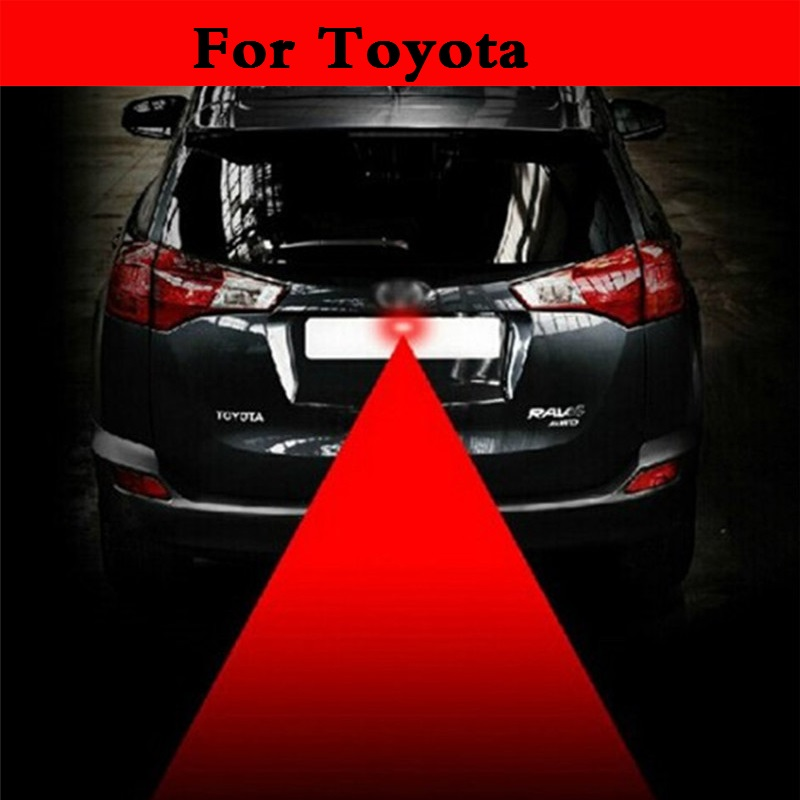 New Anti Collision Car Laser Tail 12V Red Auto Brake Parking Lamp For Toyota Camry Solara Celica Celsior Century Corolla Fielder 2017 chromed abs plastic car side air vent fender cover sticker for toyota camry solara celica celsior century corolla fielder