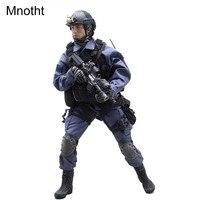 Mnotht 16 VH1026 SWAT 2,0 солдатом модель костюм одежда W/синее пальто штаны Шлем обувь наколенники для 12in мужской solider модель тела l3