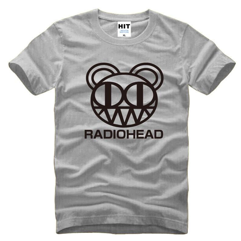 Radiohead Rock Music Mens Men T Shirt T-shirt Fashion 2016 New Short Sleeve O Neck Cotton Tshirt Tee Camisetas Masculina