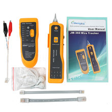 JW-360 LAN Network Cable Tester Cat5 Cat6 RJ45 UTP STP Line Finder Telephone Wire Tracker Tracer Diagnose Tone Tool Kit(China)