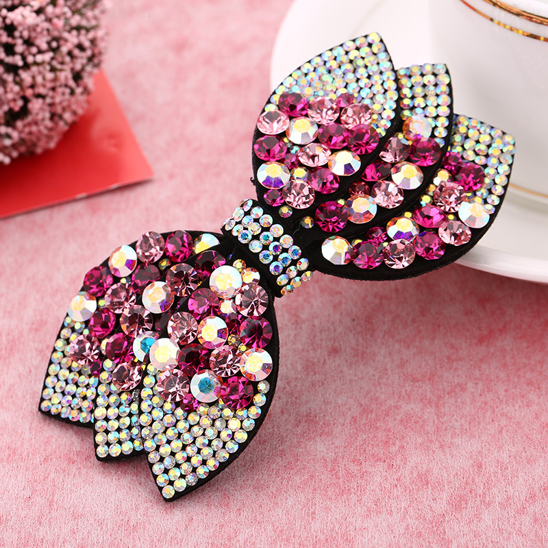 Barrettes à cheveux avec strass et nœud papillon pour femme, accessoire de mode coréenne, haute qualité, doux, plein de diamants