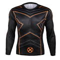 X Men Quick Dry Mesh Ventilate 3D Print Superhero t shirt Exercise Shirt Long Sleeve Skintight Bicycle Jersey