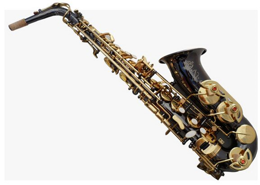 Saxophone New High Quality Alto Sax  Musical Instruments Professional E-flat Sax Alto Black Nickel Gold Saxophone Free shipment 2016 high quality sachs alto e