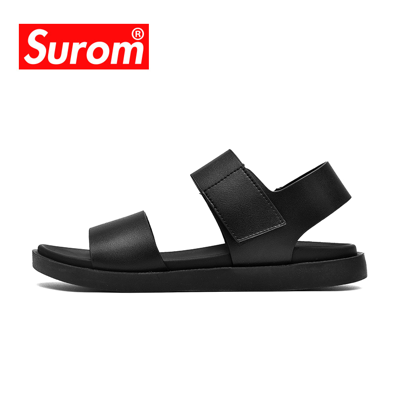 SUROM Summer Outdoor Sandals In Men Footwear Classic Comfortable Male Shoes Adult