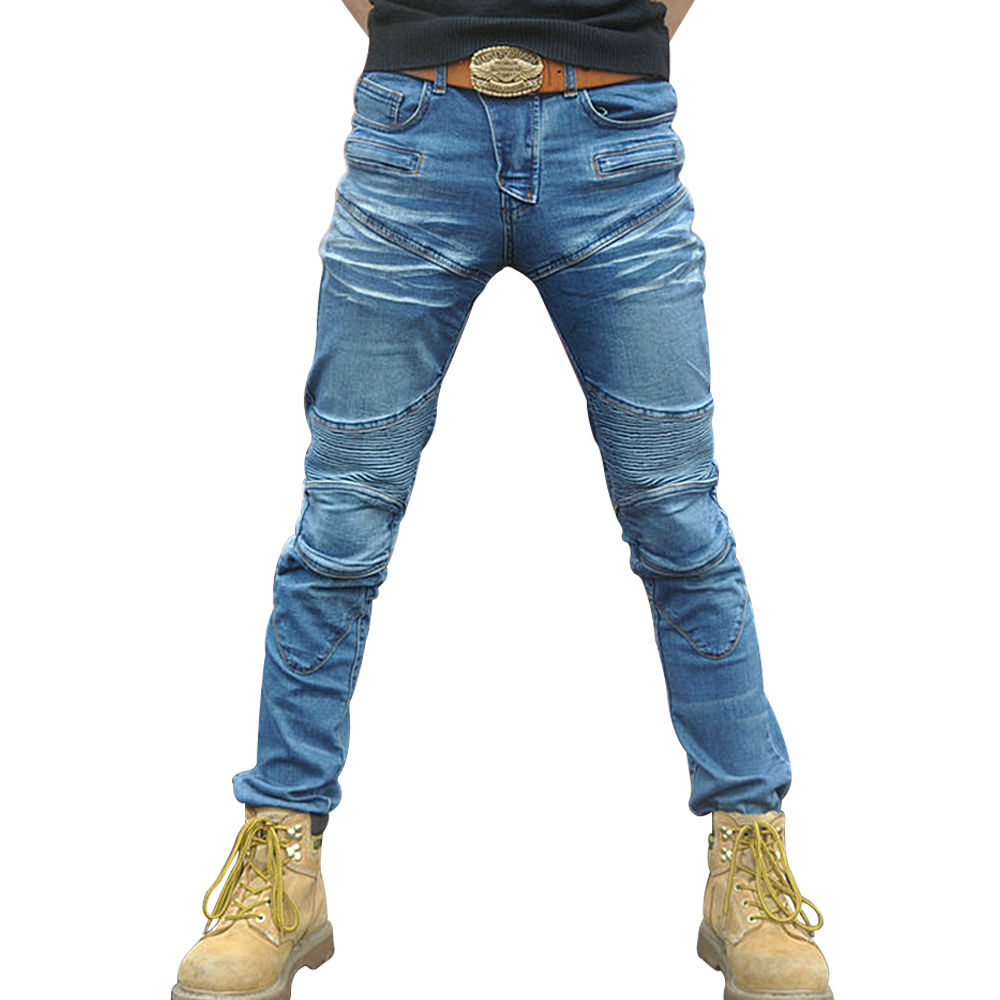 NEW Motorcycle Pants Men Motorcycle Jeans Protective Gear Riding Touring Motorbike Trousers Motocross Pantalon Moto Pants 2017 new autumn pantalon jean homme casual business stretch jeans men mid waist thin denim trousers washing jeans pants male