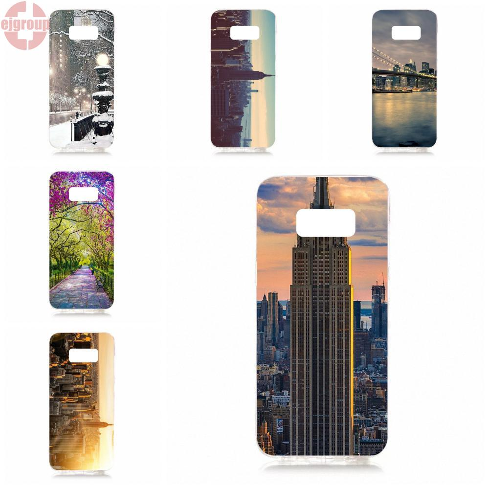 EJGROUP Soft TPU Silicon Protector New York City Ny Scenery For Samsung Galaxy S8 5.8 inch G950 G950F SM-G9500
