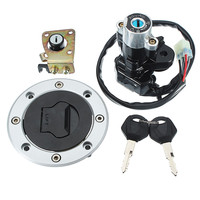 6 way Motorcycle Connector Ignition Switch Cap Lock Set With 2 Keys For Suzuki GSXR600 97 00