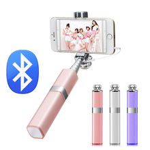 Ulanzi Handheld Monopod with Bluetooth Remote Control Girly Lipstick Design Selfie Stick for iPhone Samsung Android Smarthone