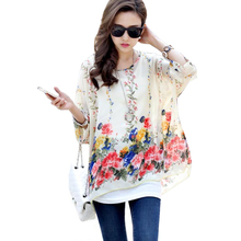 Women Blouses New Arrival 2017 Plus Size Women Clothing Summer Blouse Shirt Woman Vintage Chiffon Shirts Tops Chemise Femme