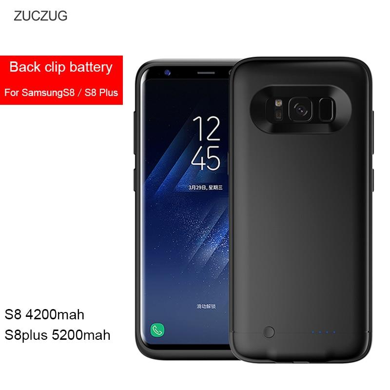 imágenes para Banco de la energía del Caso Para Samsung galaxy S 8 Plus S8 S8 + Cargador de Batería recargable Portátil Cubierta Casos de Energía SM G9500 G9550 Fundas