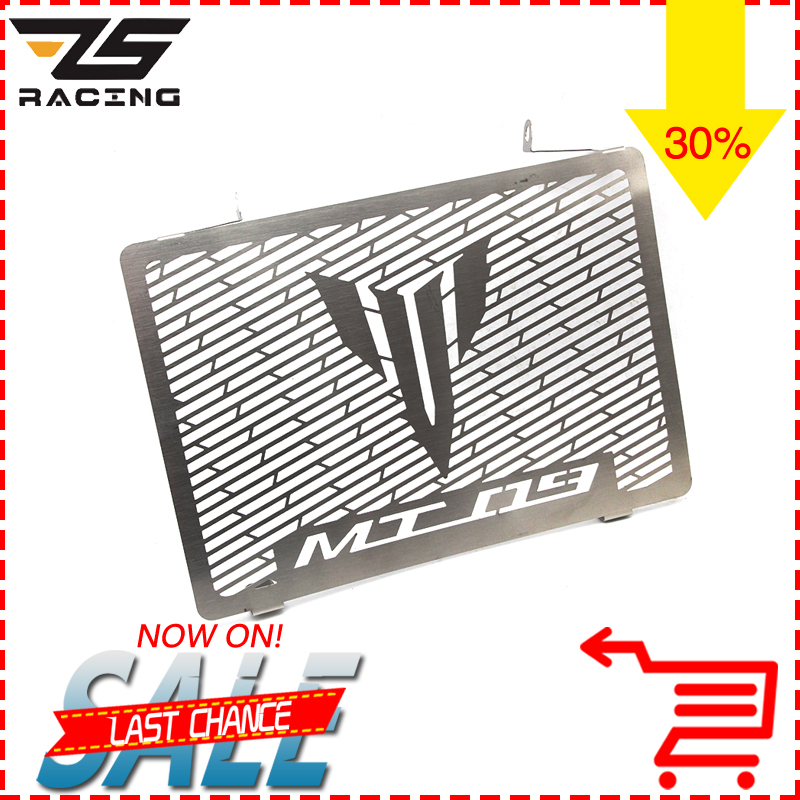 ZS Racing Silver Motorcycle Radiator Grille Guard Cover Protector Case For YAMAHA MT09 MT-09 FZ09 FZ-09 2013 2014 2015 2016 for yamaha xjr 1300 xjr1300 1998 2008 99 00 01 02 03 04 05 06 07 motorcycle oil cooler protector grille guard cover