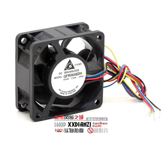Nueva 48 V 0.20A QFR0648DH 6025 6 CM de cuatro líneas PWM del ventilador de refrigeración