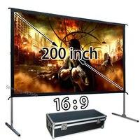 Оптовая продажа дешевой HD проектор Экран 200 дюймов 16:9 Быстрой Установке Открытый фильм Экраны Применение для школы конференции
