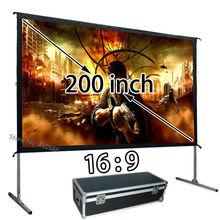 Pantalla de proyección de proyector HD de 200 pulgadas 16:9, pantallas de películas al aire libre de Instalación rápida, uso para conferencias escolares, barato, venta al por mayor