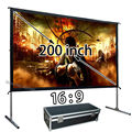 Wholesale Cheap Cost HD Projector Projection Screen 200 inch 16:9 Quick Install Outdoor Movie Screens Use For School Conference