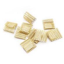 10 шт., 8 рядов, золотые, серебряные кольца для свадебных салфеток, бриллиантовые украшения, аксессуары, чехлы с бантом, держатели, сделай сам, украшения