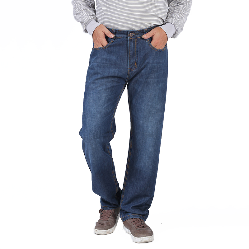 Men Big Size Comfortable Fashion Jeans Male Classic Stretch Straight Leisure Pants Homme Breathable Quality Blue Casual Trousers high quality men s pants climbing stretch plus size l 5xl outdoor sport trousers for men breathable slim fit homme pantalones
