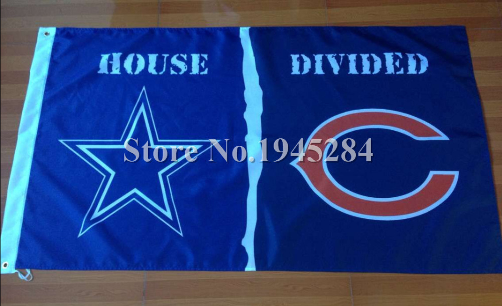 ④NFL Dallas Cowboys Chicago Bears casa dividida bandera nuevo 3x5ft ...
