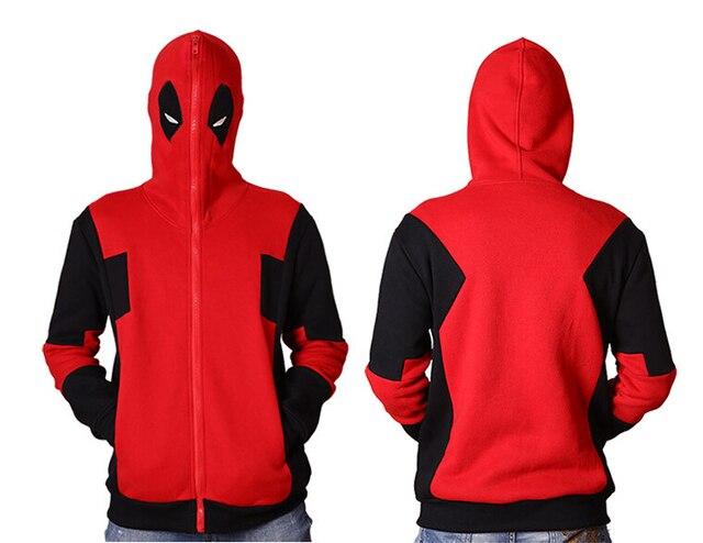 1a8a7e55b Deadpool bluza z kapturem Marvel Comic Wade Wilson bluza z kapturem na  zamek błyskawiczny odzieży wierzchniej
