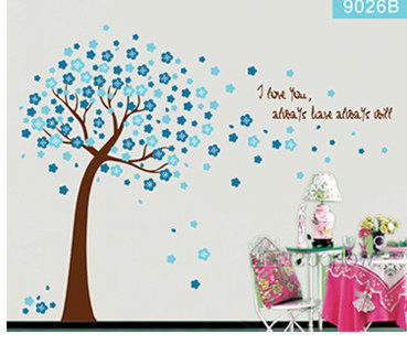 PUTIH dan TONGKAT Removable Wall Sticker Vinyl Mural Decal Art Jepang - Dekorasi rumah - Foto 2