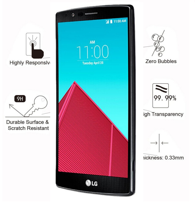 9h screen protector tempered glass glass sfor lg g4 for Photo ecran lg g4