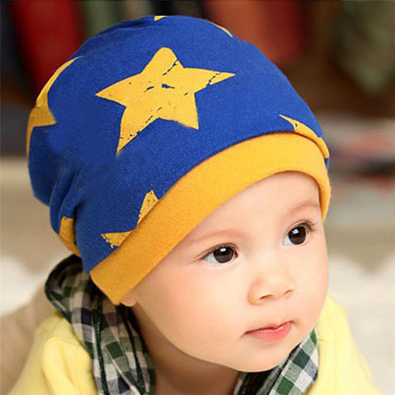 Child Star Pattern Newborn Hat Baby Beanies Soft Warm Cotton Kids Boys Girls Toddler Cap child beanie Hat lovely toddler first walkers baby boys and girls cotton shoes soft bottom hook sneakers i love mom dad
