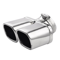 Car Stainless Steel Dual Muffler End Exhaust Trim Tail Pipe Auto Tip Exhaust Systems Exhaust Replacements