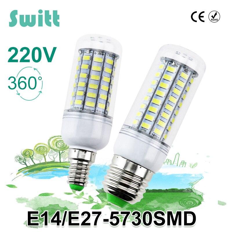 1pcs led lamp e27 e14 3w 5w 7w 12w 15w 18w 20w 25w smd 5730 corn