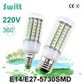 1PCS LED lamp E27 E14 3W 5W 7W 12W 15W 18W 20W 25W SMD 5730 Corn Bulb 220V Chandelier LEDs Candle light Spotlight High Power