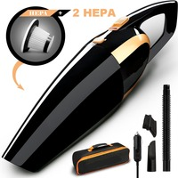 4800pa Car Vacuum, High power 120W Car Vacuum Cleaner by 12V with Long Power Cord Extra Carrying Bag