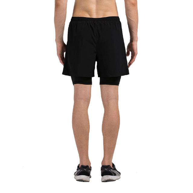 Running Shorts Fitness Gym Trainning Sportswear Elastic Waist