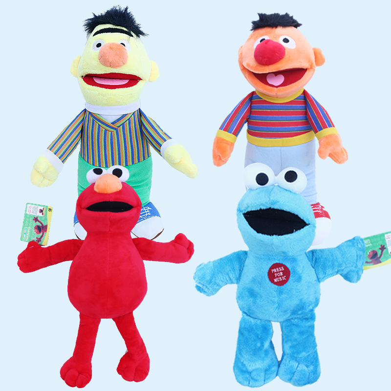 Cartoon Sesame Street Plush 20cm Elmo Cookie Monster Erine Bert Plush Stuffed Toys Doll Soft Animals Toy For Kids Children Gift