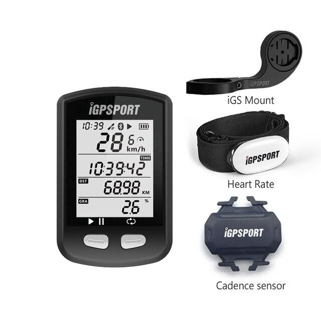 IGS10 GPS bicicleta ordenador iGPSPORT velocímetro (apoyo cadencia y sensor de velocidad y corazón)