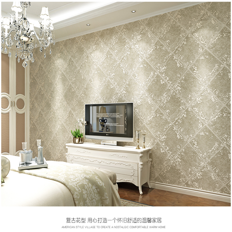beibehang New high-end American retro green non-woven wallpaper Living room ws wall domestic bedroom wallpaper papel de parede beibehang high end nordic mottled wallpaper retro nostalgia plain non woven wallpaper bedroom living room full shop wall paper