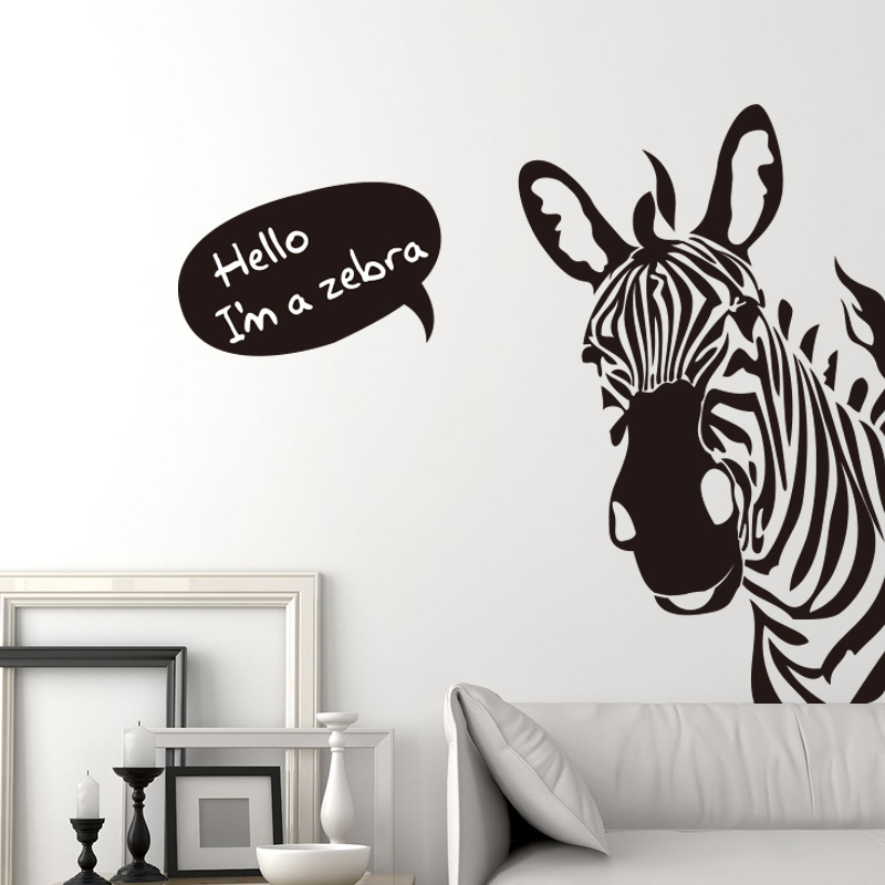 Marvelous Cartoon Creative Zebra Youth Wall Stickers Bedroom Living Room Background  Decoration Wall Stickers In Wall Stickers From Home U0026 Garden On  Aliexpress.com ... Part 24