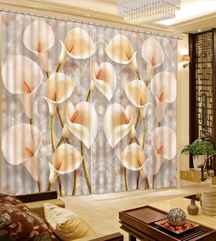 Custom any size 3D Curtain Luxury Blackout Window Curtain Living Room stereoscopic curtains