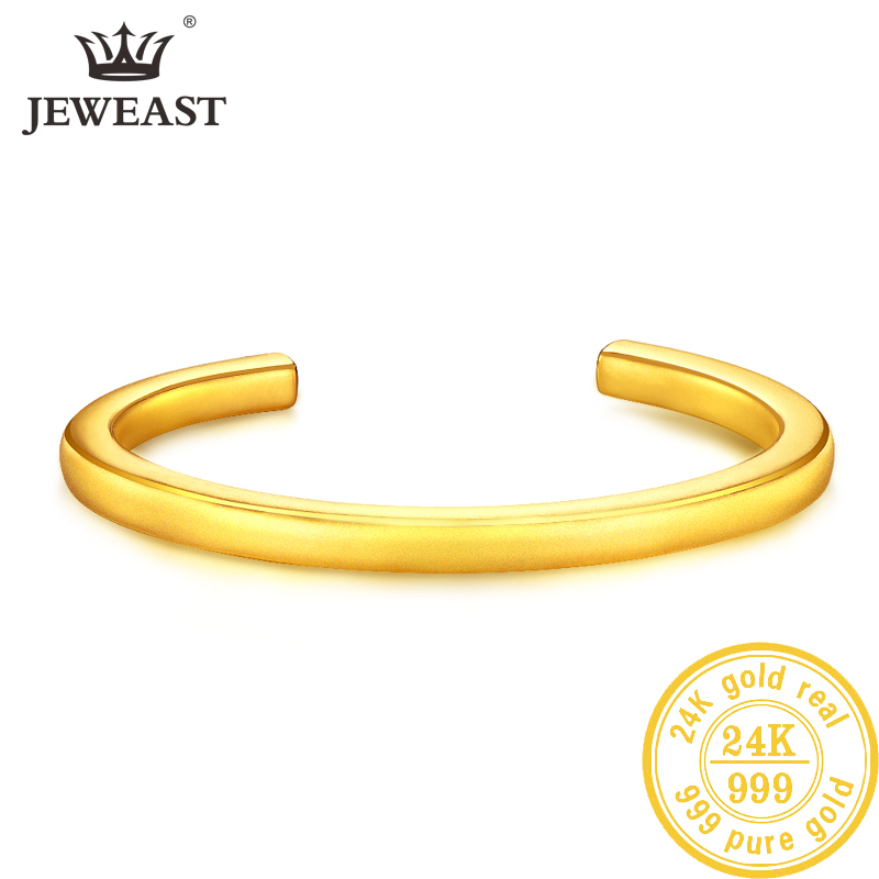 LKL 24K Pure Gold Bracelet Real 999 Solid Gold Bangle Upscale Beautiful  Romantic Trendy Classic Jewelry Hot Sell New 2020