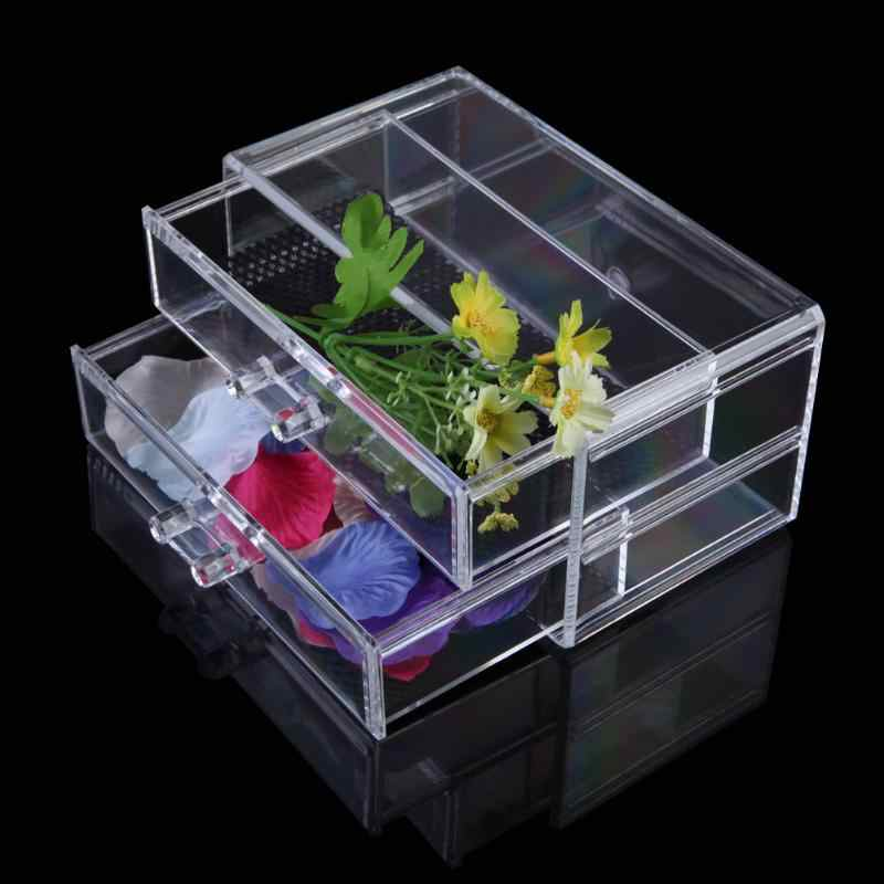 Transparent Acrylic Cosmetic Organizer Makeup Storage Box Drawer Desk Jewelry Organizer Bathroom Makeup Brush Lipstick Holder