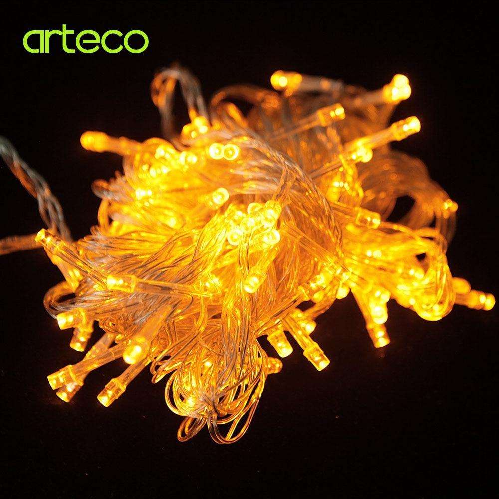 110V / 220V 10M 100LEDs Krismas LED String Light Xmas Fairy Garland - Pencahayaan perayaan - Foto 5