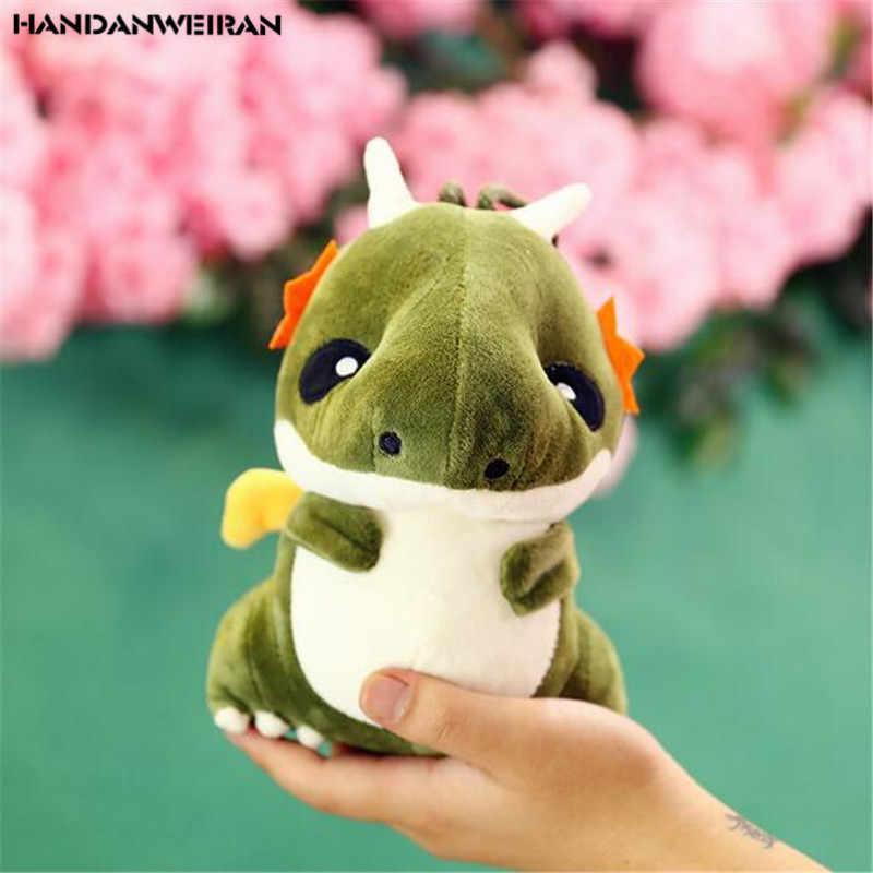 HANDANWEIRAN 1 PCS Mini Dinossauro De Brinquedo De Pelúcia Bonito Brinquedos Atividades Da Empresa Criativa Dos Desenhos Animados Pequeno Dragão das Crianças Pequenos Presentes 20 CM